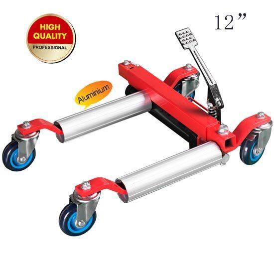 hydraulic vehicle positioning jack aluminum roller