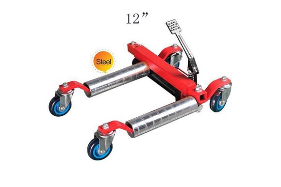12'vehicle positioning jack hydraulic steel roller
