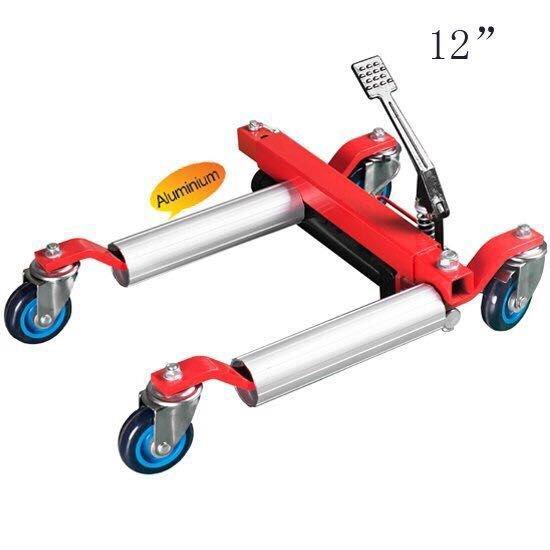 hydraulic vehicle positioning jack 12 inch aluminum